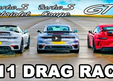 Brilliant Porsche 911 drag race: GT3 vs Turbo S Coupe vs  Cabriolet