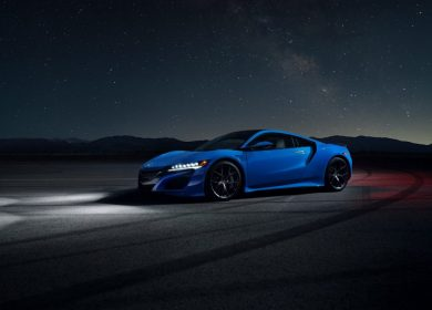 Acura NSX (2021) in Long Beach Blue Pearl Colour Option