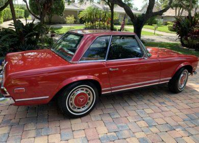 1968 Mercedes-Benz 280SL – auction by Bring a trailer