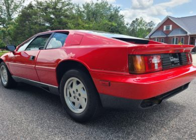 1989 Lotus Esprit Turbo with only 3800 miles in the market