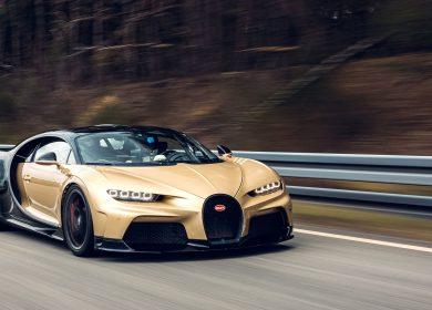High speed Bugatti Chiron Super Sport testing